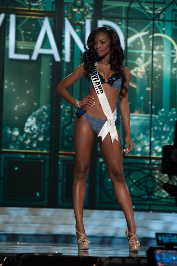 Mame Adjei, Miss Maryland USA 2015, competes in her Sun Kitten swimwear and Chinese Laundry shoes during the preliminary competition of the 2015 MISS USA pageant at the Baton Rouge River Center on Wednesday, July 8th. The 2015 Miss USA contestants are touring, filming, rehearsing and preparing to compete for the D.I.C. Crown in Baton Rouge, Louisiana. Tune in to the Reelz telecast at 8:00 PM ET on July 12, 2015 live from the Baton Rouge River Center to see who will be crowned Miss USA 2015. HO/Miss Universe Organization L.P., LLLP
