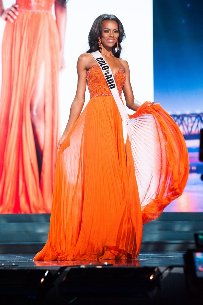 Talyah Polee, Miss Colorado USA 2015, competes in her Sun Kitten swimwear and Chinese Laundry shoes during the preliminary competition of the 2015 MISS USA pageant at the Baton Rouge River Center on Wednesday, July 8th. The 2015 Miss USA contestants are touring, filming, rehearsing and preparing to compete for the D.I.C. Crown in Baton Rouge, Louisiana. Tune in to the Reelz telecast at 8:00 PM ET on July 12, 2015 live from the Baton Rouge River Center to see who will be crowned Miss USA 2015. HO/Miss Universe Organization L.P., LLLP
