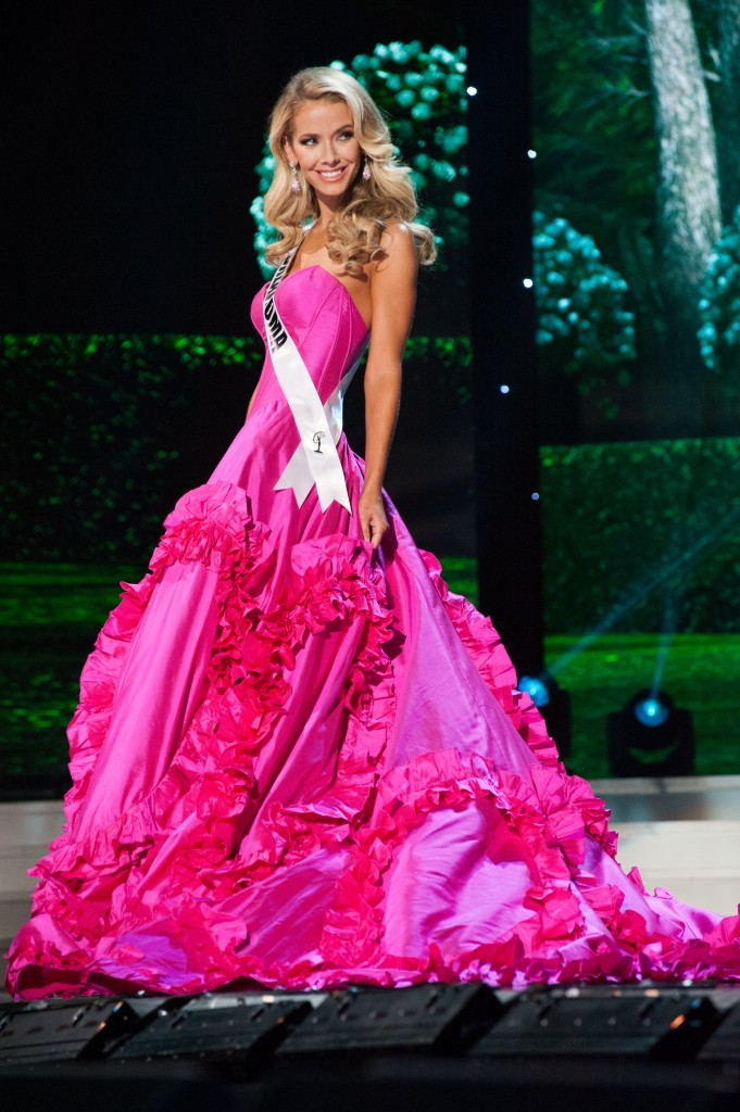Olivia Jordan, Miss Oklahoma USA 2015, competes in her Sun Kitten swimwear and Chinese Laundry shoes during the preliminary competition of the 2015 MISS USA pageant at the Baton Rouge River Center on Wednesday, July 8th. The 2015 Miss USA contestants are touring, filming, rehearsing and preparing to compete for the D.I.C. Crown in Baton Rouge, Louisiana. Tune in to the Reelz telecast at 8:00 PM ET on July 12, 2015 live from the Baton Rouge River Center to see who will be crowned Miss USA 2015. HO/Miss Universe Organization L.P., LLLP
