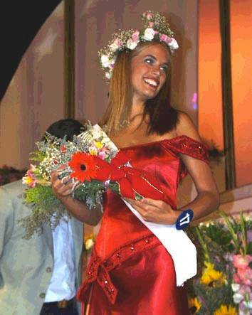 Katja Thomsen during her early days in pageantry